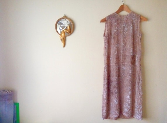 Nude Dress// Chiffon and velvet champagne// New Ye
