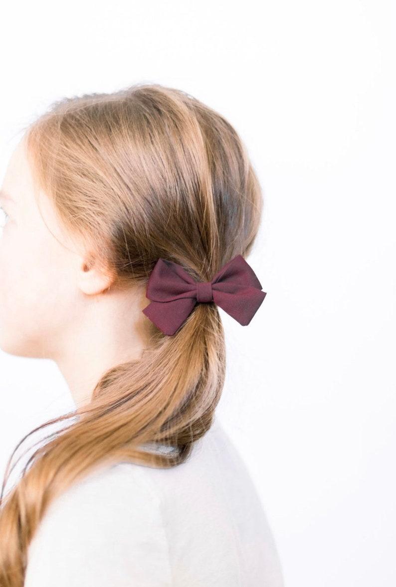 Baby Fall Headbands Nylon Headband Little Girl Bows BW Gingham Set Baby Headbands Cotton Bows Fabric Bows Petite Sailor Baby Bows