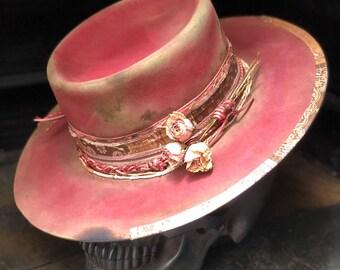 "Vintage rare custom hat "" Pink kush please don't blush"""