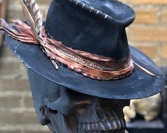 "Vintage Rare Custom Hat , ""Broke from my head down"""