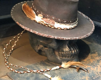 "Vintage Rare Custom hat , ""hearty dirty """