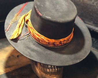 "Vintage Rare Custom Hat, ""The nomad gaucho"""