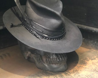 "Vintage Rare Custom hat ""INk me IN BLacK ON My bAck """