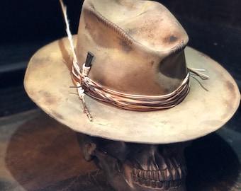"Vintage Rare Custom cowboy hat "" ROCKIN'TRASH"""