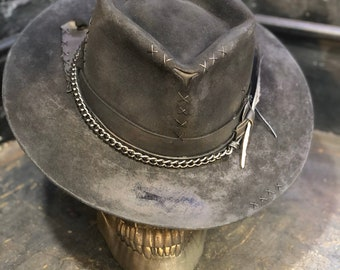 """Vintage Rare Custom hat , """"The bank robber was riding a bobber"""""""