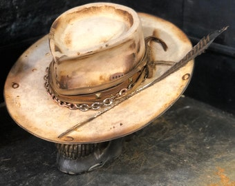 """Vintage Rare Custom Hat ,"""" Feathernity"""