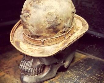 "Vintage Rare Custom Hat , "" The Star Bowler Rock n Roller"