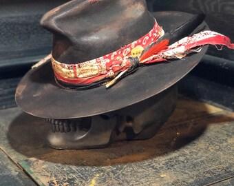 "Vintage Rare Custom hat , "" CATTLE RATTLE """