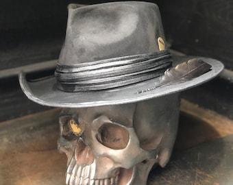 """Vintage Rare Custom Hat , """"Paint it Black"""""""