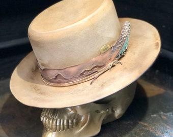 "Vintage rare custom hat , ""Capricorn Rise"""