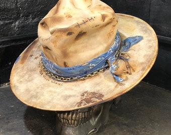 "Vintage Rare Custom hat , ""Rolling Again"""