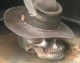 "Vintage Rare Custom  cowboy hat ,   ""HARD WORKER"""