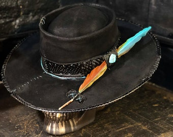 "Custom rare vintage hat "" A rainbow shade into a dark storm"""