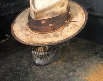 "Vintage Rare Custom  Beaver Felt Hat ""Filthy fucker"""