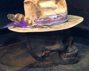 "Vintage rare custom hat ""Amethystique"""