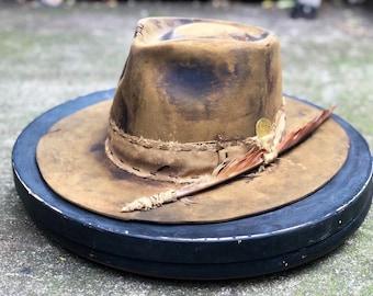 "Vintage Rare Custom Hat "" Coffe ,Cream & rock my foam"""