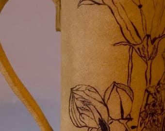 "Large cup/""balloon flower""/handmade single piece"