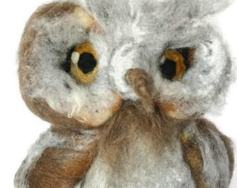 needle felted owl christmas tree topperwool felt owlhandmade owl giftsowl loversowl totem