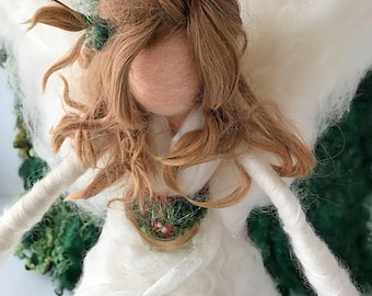Angel Christmas Tree Topper/Unique Christmas Tree Topper /Needle Felted Angel Tree Topper/Needle Felted Angel/Christmas Tree Angel Topper