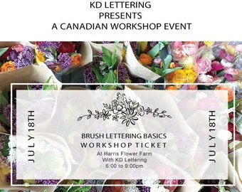 KD Lettering Brush Lettering Basics - Ticket