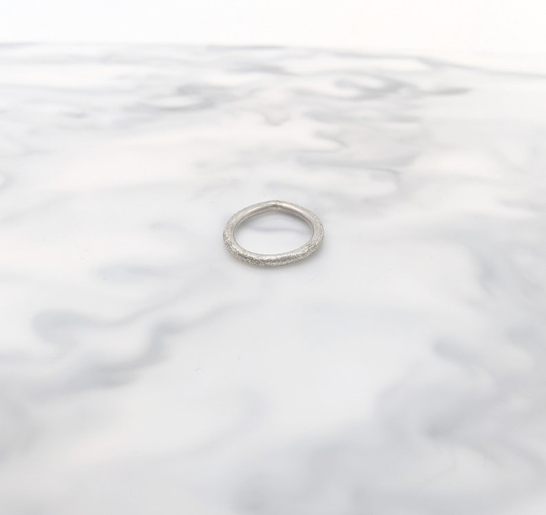 Size 5 Size J Size J Size 5 Handmade Sterling Silver Textured Asymmetrical Ring