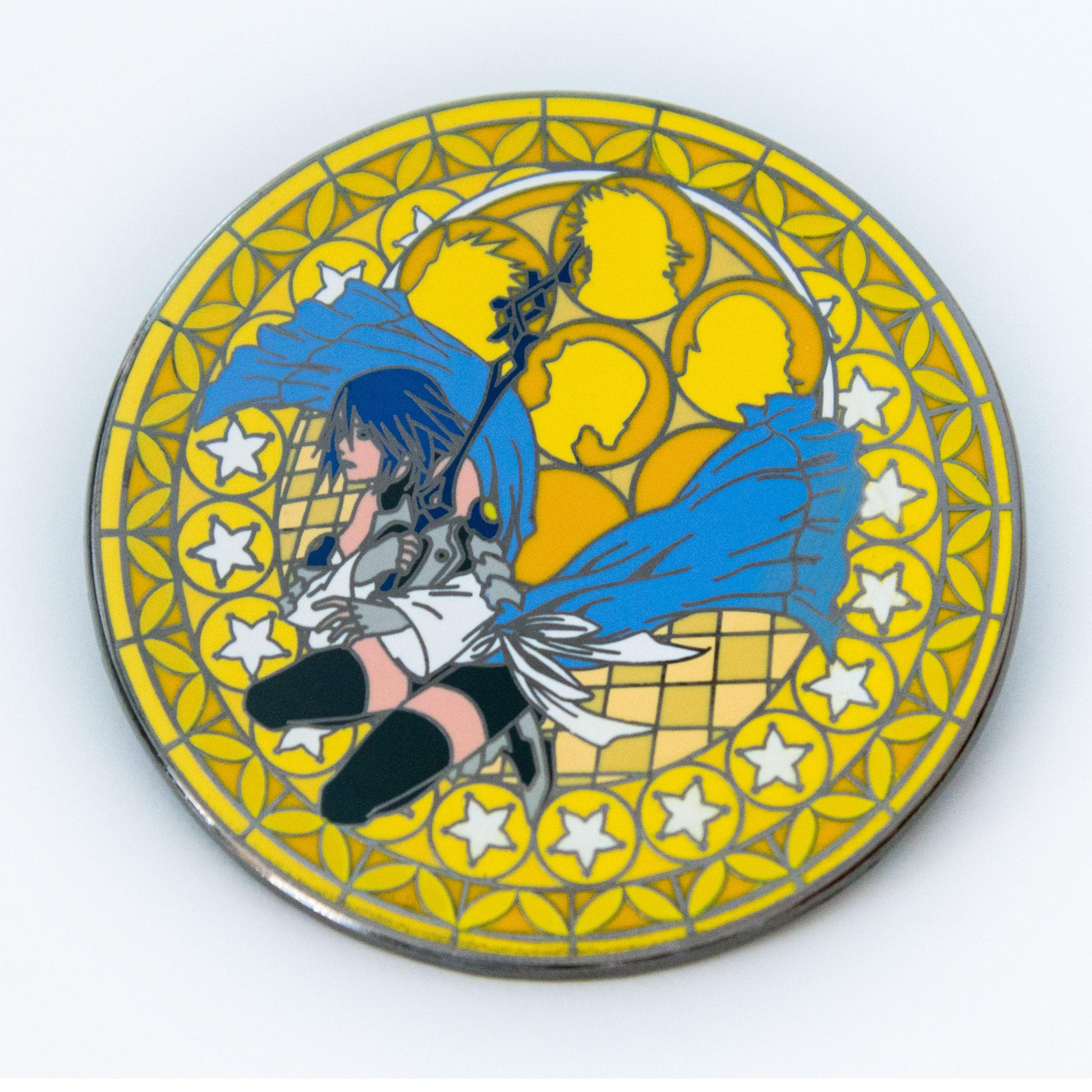 Aqua Stained Glass pin Kingdom Hearts hard enamel pin | Etsy