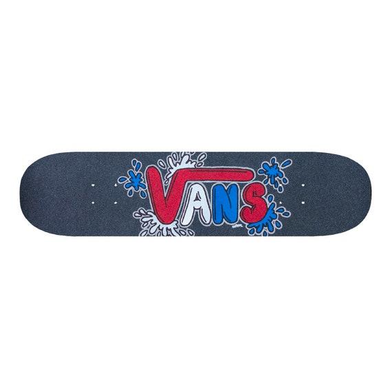 Custom Skateboard - Grip Tape - Skateboard Art - Vans Shoes