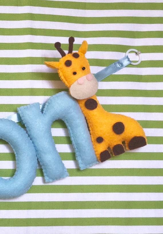safari banner giraffe Safari name garland giraffe wall decor lion name sign baby door sign baby nursery garland new born gift