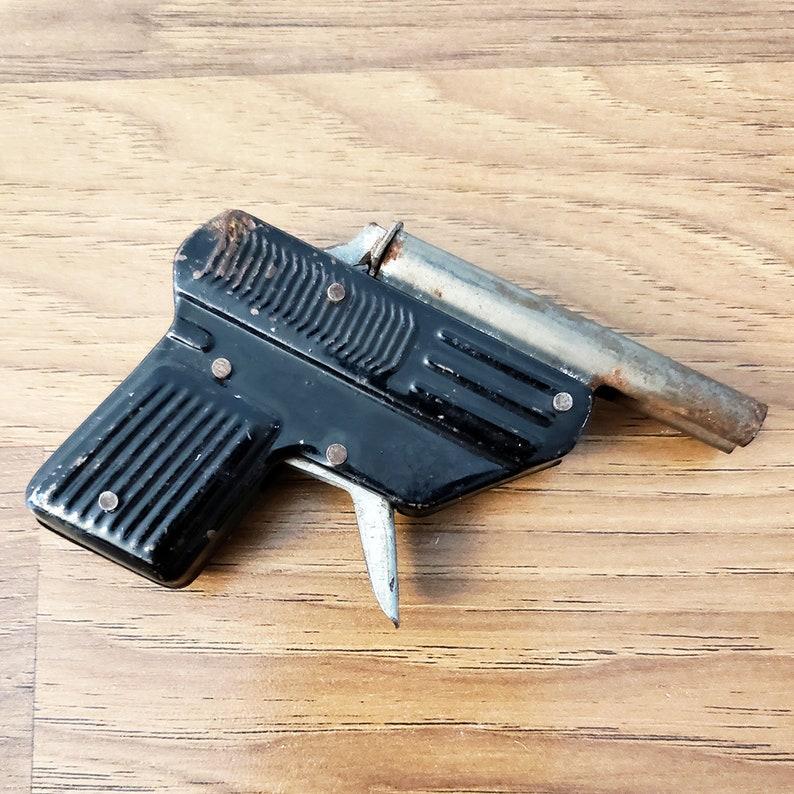 Rare '110 Pioneer' Pressed Tin Toy Cap Gun, 1950s Made In Japan