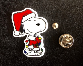 lapel pin and tie clip. stick Pins 1970s Snoopy Jewelry Pins