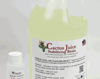 1/2 Gallon (1.89 L) Cactus Juice Stabilizing Resin Solution for woodworking, hardening and stabilizing wood and other materials
