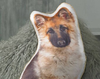 Adorable German Shepherd Shaped Cushion
