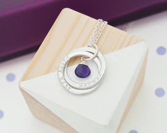 Personalised 21st Birthday Birthstone Necklace Gift For Her Daughter Ideas