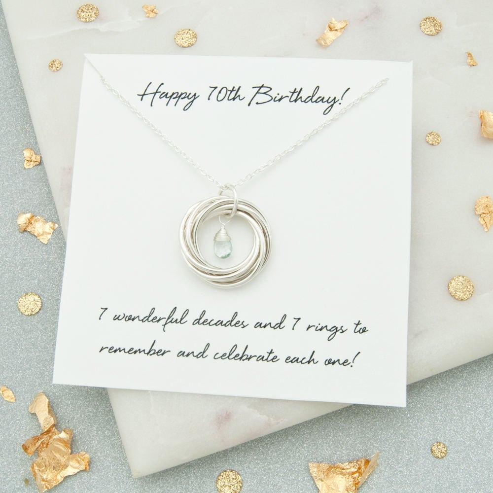 70th Birthday Gifts For Women Birthstone