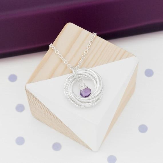 80th Birthday Necklace Birthstone