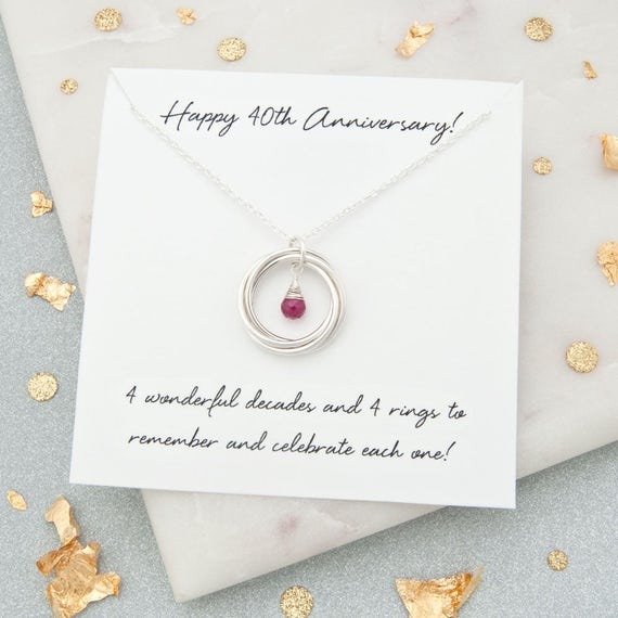 Ruby Wedding Gifts For Her: 40th Anniversary Gift For Her 40th Ruby Wedding