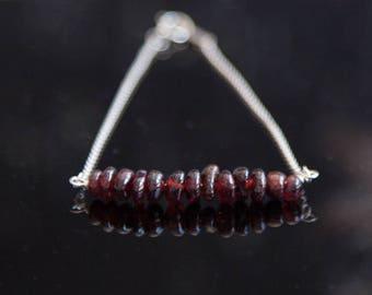 Garnet Bracelet, Raw Garnet Jewelry, Garnet January Birthstone Jewelry, Garnet Birthstone, January Red Gemstone Bracelet, Garnet Jewelry