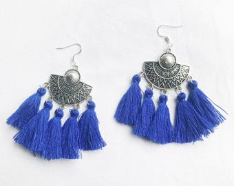 AGATHE blue 03 ethnic earrings