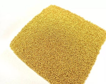 Bag of micro beads gold plated