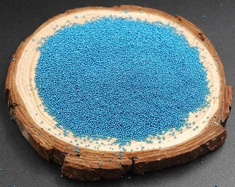 Bag of 10g of micro beads blue