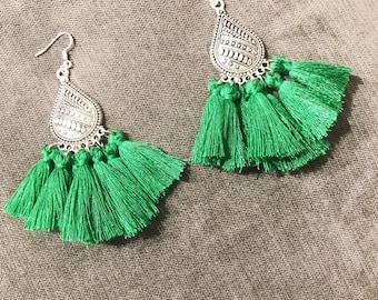 ICE green 05 ethnic earrings