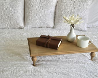 Bed Tray / lap desk / wood tray / breakfast tray / reading desk / laptop desk / Mother's Day gift / bed tray with legs / server
