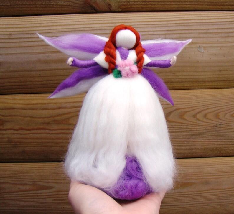 Christmas Tree Topper Angel Tree Topper Purple Angel Felted Etsy
