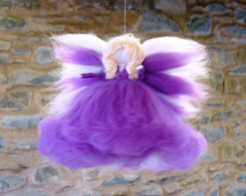 Tree Topper Angel Christmas Fairy Purple Christmas Angel Etsy