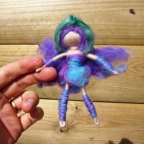 Fret me not doll felted worry girl brown gnomes best witch charm magic wool gnome pagan worry doll gift for wiccan oriental pixie gift