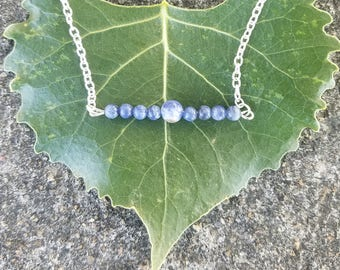 Sodalite Bar Necklace