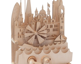 London City Scape - a wooden automata kit