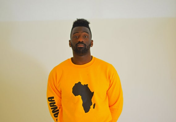 55ec4960fd2d Afrika Sweater Yellow Gold. Hypebeast black owned pullover