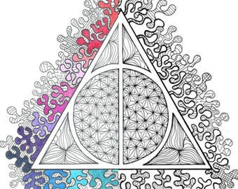 Harry Potter Dobby Pdf Coloring Page Etsy