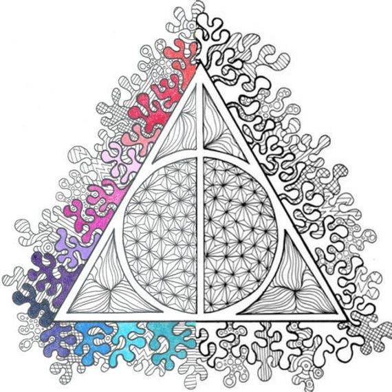 Harry Potter Deathly Hallows PDF Coloring Page